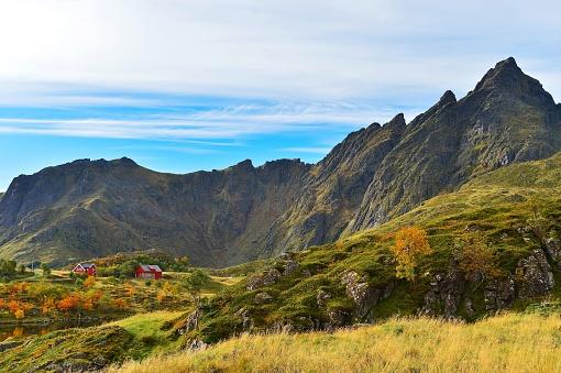 ノルウェー「Rural mountain landscape, ballstad, Nordland, Norway」:スマホ壁紙(10)