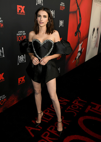 "Puffed Sleeve「FX's ""American Horror Story"" 100th Episode Celebration - Red Carpet」:写真・画像(4)[壁紙.com]"
