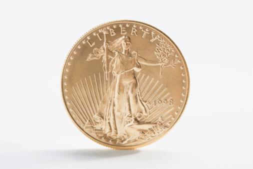 金運「A gold coin」:スマホ壁紙(19)