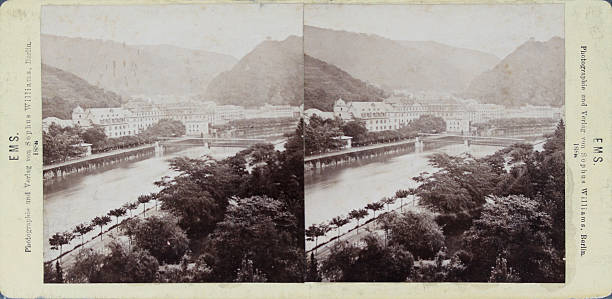 Bad Ems At The Rhine. The Spa. 1888. Stereo Photograph By Sophus Williams / Berlin.:ニュース(壁紙.com)