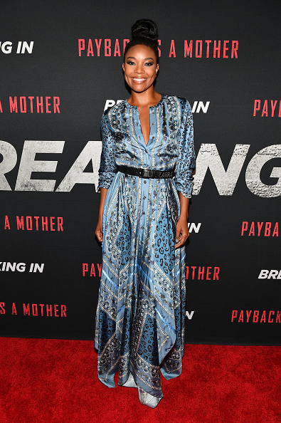 Satin Dress「BREAKING IN Star and Producer Gabrielle Union, & Producer Will Packer Attend Private Screening at Regal Atlantic Station in Atlanta」:写真・画像(15)[壁紙.com]