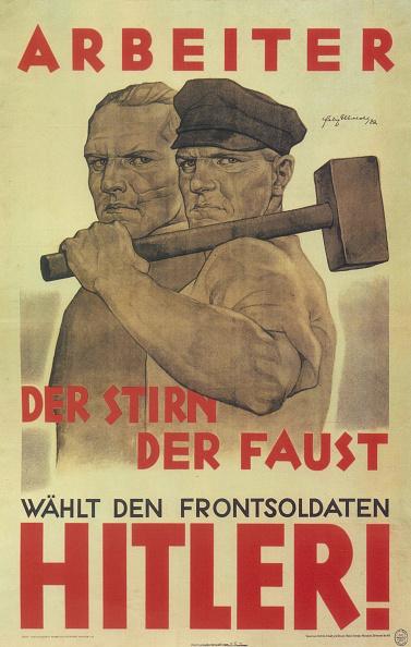 Chromolithograph「Vote For The Front Soldier Hitler!」:写真・画像(6)[壁紙.com]