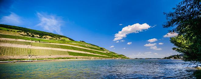 Rhineland-Palatinate「landscape view over Rheingau / rhin- valley」:スマホ壁紙(3)