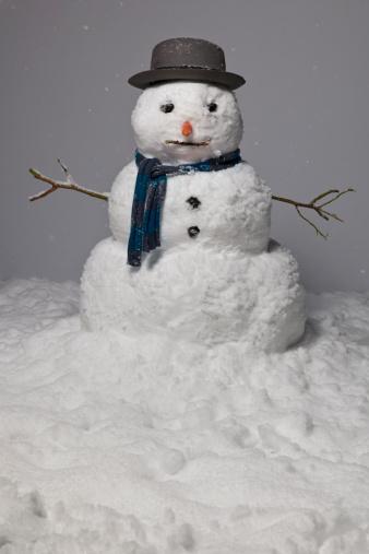 雪だるま「Cut-out snowman」:スマホ壁紙(7)