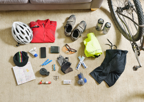 Compatibility「Cycling gear spread out on a lounge floor」:スマホ壁紙(14)