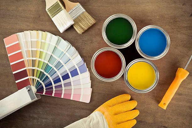 Paint cans and color chart:スマホ壁紙(壁紙.com)