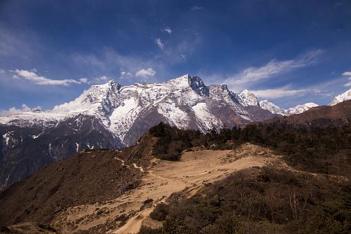 Khumbu「Hillside view from Syangboche near Namche Bazaar with Kongde Ri in the background, Everest Base Camp Trek, Nepal」:スマホ壁紙(11)