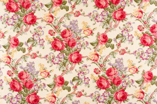 Floral Pattern「Debonair Antique Floral Fabric」:スマホ壁紙(17)