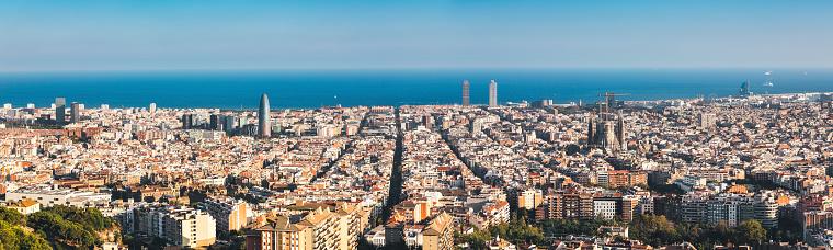 Barcelona - Spain「Barcelona Skyline」:スマホ壁紙(8)