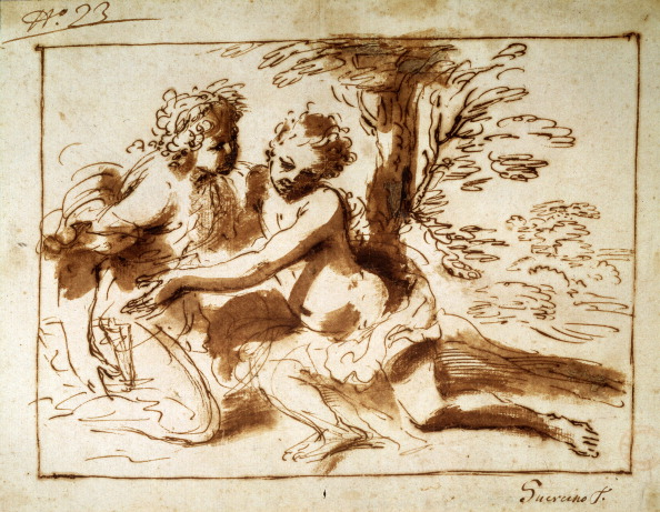 MOLA「'Two Figures in a Landscape', 17th century. Artist: Pier Francesco Mola」:写真・画像(5)[壁紙.com]
