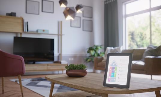Wireless Technology「Smart Home Control In Scandinavian Home Interior」:スマホ壁紙(4)