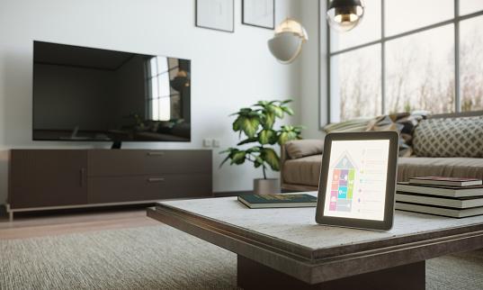 Intelligence「Smart Home Control In Scandinavian Home Interior」:スマホ壁紙(0)