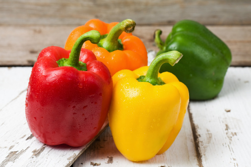 Bell Pepper「Red, Yellow, Orange and Green Bell Peppers」:スマホ壁紙(15)