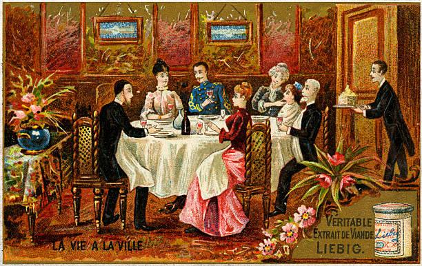 Butler serving dinner to French bourgeois family:ニュース(壁紙.com)