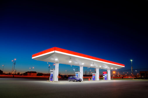 Fuel Pump「Gas Station Exterior Night Lights」:スマホ壁紙(3)