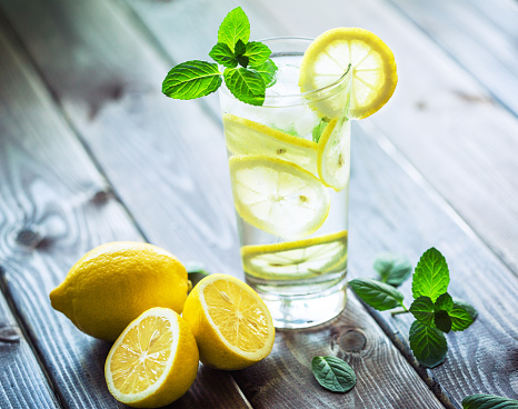 Lemon - Fruit「Fresh water with lemon and mint」:スマホ壁紙(14)
