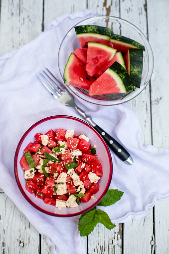 Salad「Fresh watermelon salad with feta cheese, mint and sesame」:スマホ壁紙(18)