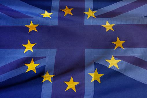 Digital Composite「EU and UK flags-Brexit」:スマホ壁紙(0)