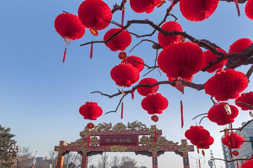 Chinese Lantern「Beijing ditan red lanterns」:スマホ壁紙(1)