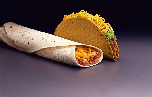 Taco and bean burrito:スマホ壁紙(壁紙.com)