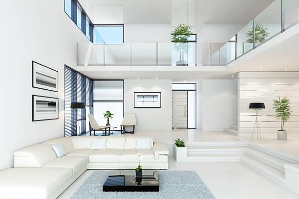Luxury White Villa:スマホ壁紙(壁紙.com)