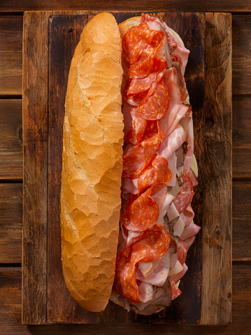 Beef「Loaded Party Sub Sandwich on a French Loaf」:スマホ壁紙(16)