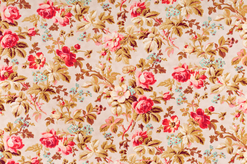 Floral Pattern「Manor Rose Medium Antique Floral Fabric」:スマホ壁紙(8)
