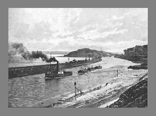 Copy Space「Manchester Ship Canal, Above Easton,C1900」:写真・画像(8)[壁紙.com]