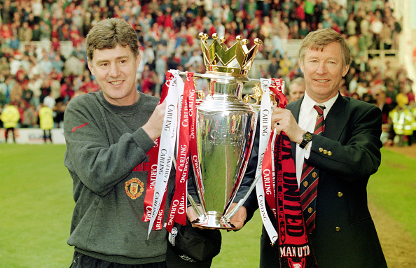 スポーツリーグ「Brian Kidd and Alex Ferguson Premiership Trophy May 1996」:写真・画像(16)[壁紙.com]