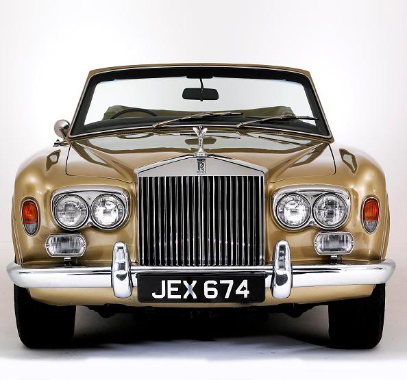 Gold Colored「1975 Rolls Royce Corniche convertible」:写真・画像(9)[壁紙.com]