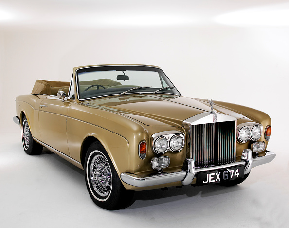 Gold Colored「1975 Rolls Royce Corniche convertible」:写真・画像(18)[壁紙.com]