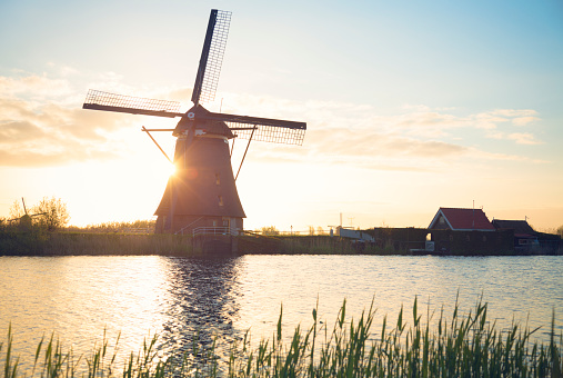 Netherlands「Windmill in Netherlands」:スマホ壁紙(6)