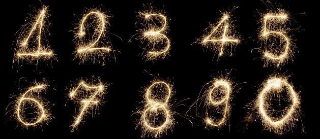 数字の8「輝く番号」:スマホ壁紙(18)