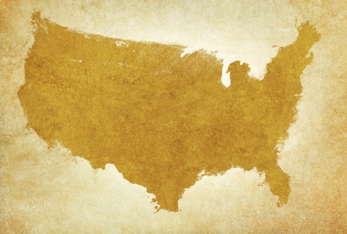 Discovery「USA map on aged parchment」:スマホ壁紙(10)