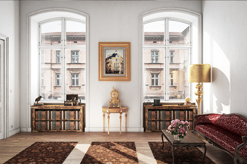 Old-fashioned「Stylish and Classic Living Room」:スマホ壁紙(4)