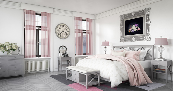 Classical Style「Stylish and Cozy Bedroom Interior」:スマホ壁紙(18)