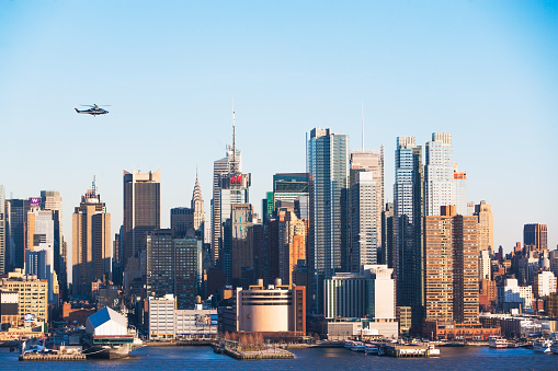 Hudson River Park「helicopter,empire state building and west side of manhattan」:スマホ壁紙(12)