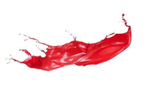 Splashing「red paint splash」:スマホ壁紙(11)