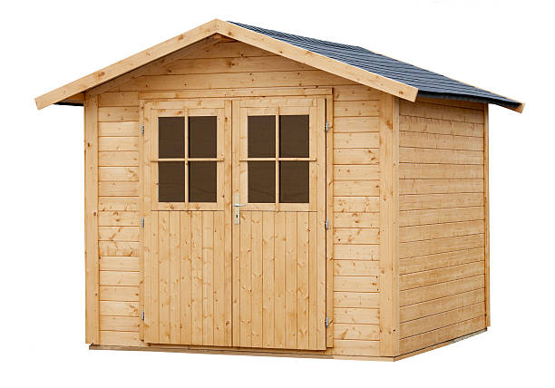 New Wood Garden Shed isolated on white:スマホ壁紙(壁紙.com)