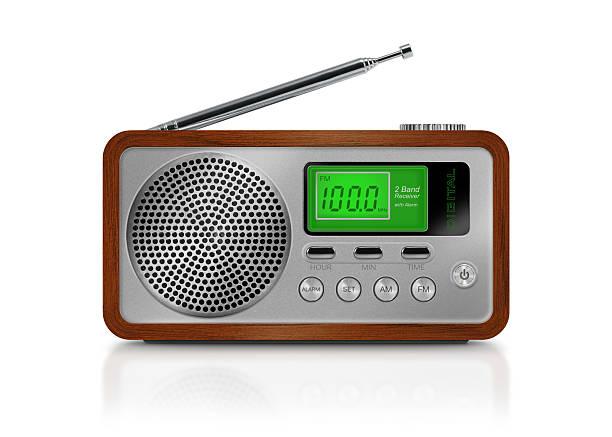 Digital drawing of a portable radio on white background:スマホ壁紙(壁紙.com)