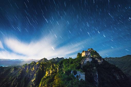 星空「Great Wall of China」:スマホ壁紙(4)