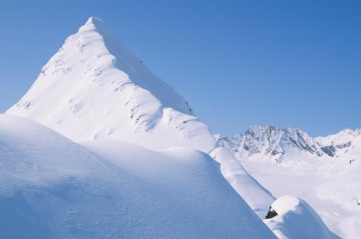 雪山「Mountain top, Chugach Mountains, Alaska, USA, elevated view」:スマホ壁紙(4)
