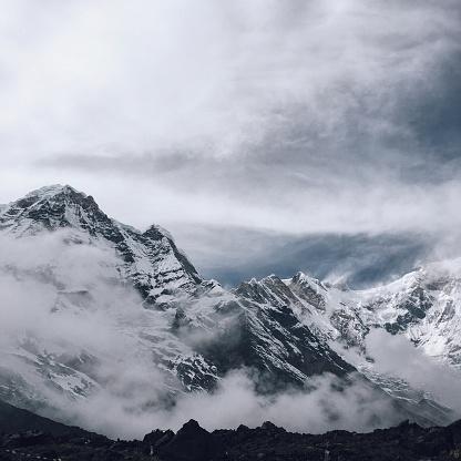 エベレスト山「ヒマラヤ山脈の山トップ」:スマホ壁紙(10)