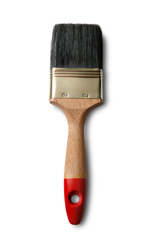 Art And Craft「Paint: Paint Brush Isolated on White Background」:スマホ壁紙(3)