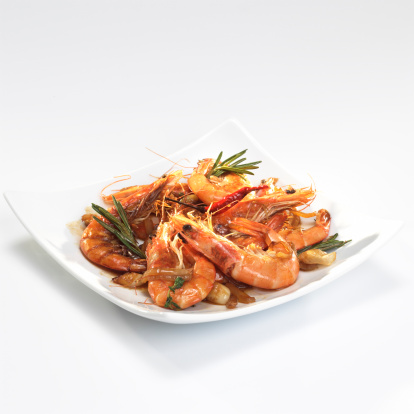 Eating「Fried prawns with rosmary and thyme」:スマホ壁紙(16)