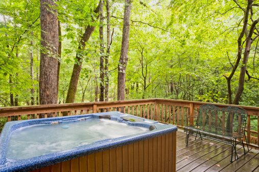 Woodland「Hot Tub in the Woods (XXL)」:スマホ壁紙(4)
