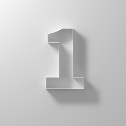 Number「1, one, white paper number」:スマホ壁紙(13)