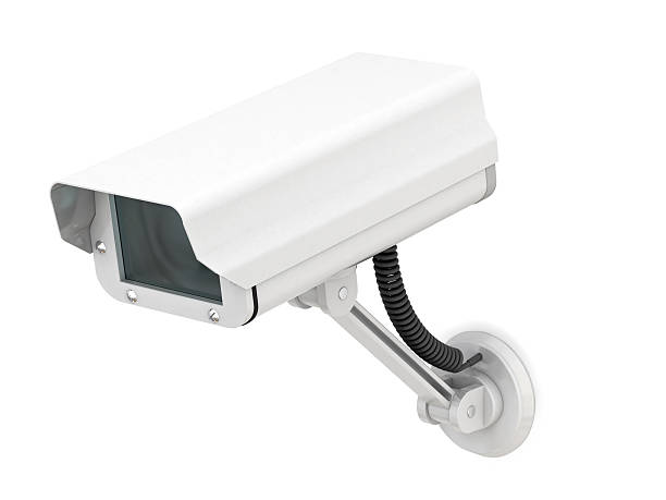 Security camera set against a white background :スマホ壁紙(壁紙.com)