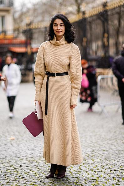 Knitted「Nina Ricci : Outside Arrivals - Paris Fashion Week Womenswear Fall/Winter 2018/2019」:写真・画像(6)[壁紙.com]