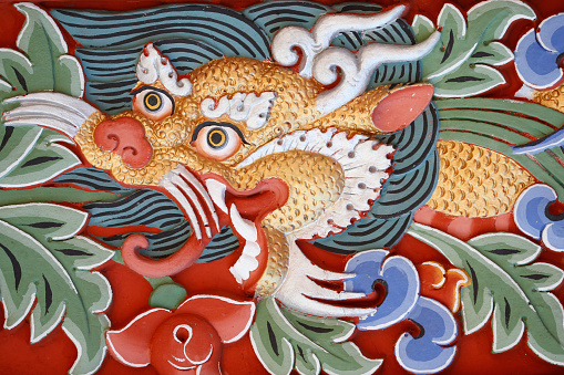Dragon「Temple of the Thousand Buddhas. Dashang Kagyu Ling congregation. Dragon.」:スマホ壁紙(14)